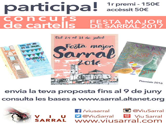 Cartell Festa Major Sarral.